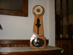 future clock completed (stansvisions) Tags: wood two clock woodwork dad time crafts part future clocks timely craftsmenship stansvisions futureclock