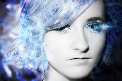 InkedLauren2 (designbycrabtree.com) Tags: blue light blackandwhite bw abstract art ice beautiful composition digital photomanipulation photoshop painting person photography design photo nice crystals graphic crystal expression awesome creative dream picture surreal manipulation calm fluid photograph dreams flowing dust cheerful heavenly particles celestial crabtree genuine subtle inked disintegrate sableraid