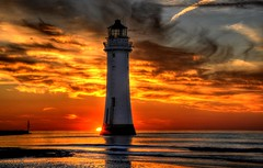 Looking West (Shertila Tony) Tags: sunset sea england sky lighthouse inspiration water weather night clouds golden europe cloudy britain group explore hdr wallasey wirral 1000views newbrighton the yahooweather platinumheartaward mygearandme mygearandmepremium artistoftheyearlevel4 theinspirationgroup