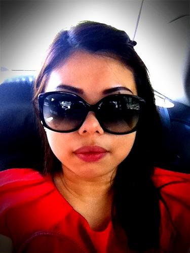 Hiding behind my shades.