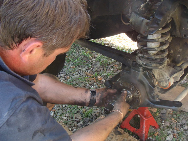 John replacing hub seal