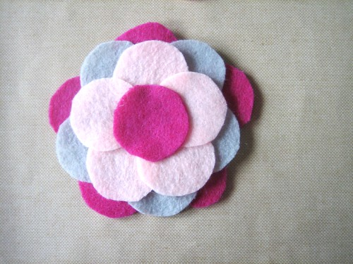 Felt Flower Brooch - Center