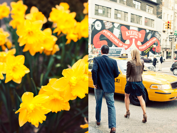 Patches of daffodils and bare legs hit the streets