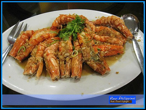 Hai Shin Lou Steamed Prawns with Garlic