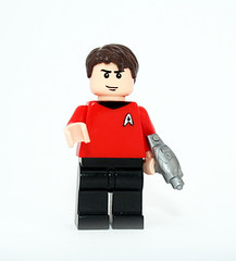 Classic Star Trek Red Shirt (JasBrick) Tags: startrek lego minifig custom redshirt alwaysdiefirst