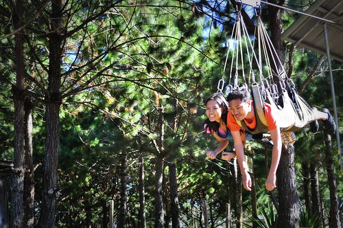 tandem zip ride at Camp Sabros