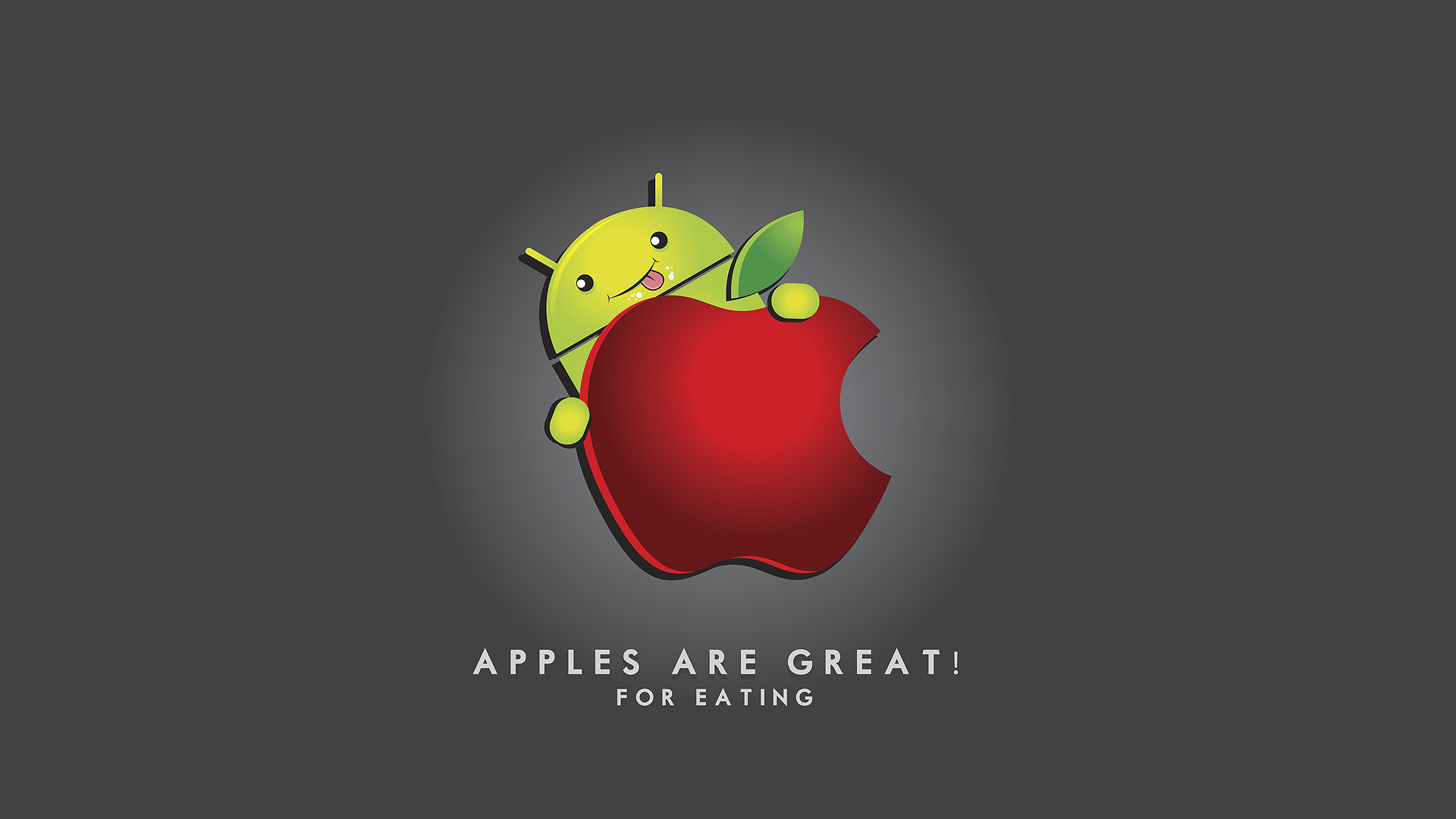 Android vs Apple – Funny Wallpapers for Android Fans ...