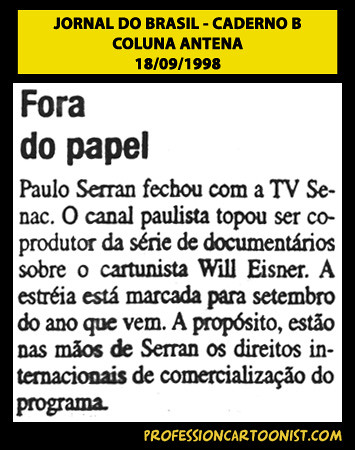 """Fora do papel"" - Jornal do Brasil - 18/09/1998"