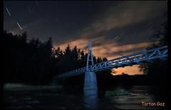 Green Bridge (Tartan Gaz) Tags: longexposure bridge canon scotland nightshot sigma 1020mm startrails riveravon lanarkshire sigma1020mm 500d greenbridge fairholm larkhall startrailsexe avonwater kissx3 t1i fairholmestate maryhoses