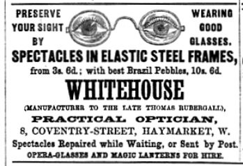 Whitehouse the Optician The Illustrated London Almanac 1869