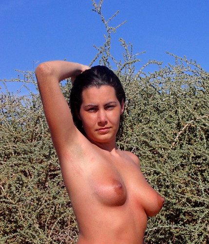 black nude in hot public nudity pics: sky, blue, bush, beautiful, beach, nudist, girl, topless, nude