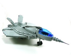 F-51 Low Orbit Fighter. (Lego Junkie.) Tags: army fighter lego military contest navy jet annual build needlenose pacom