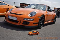 Orange Crush - Porsche 911 GT3 RSes (David.T Photography) Tags: car sport metal race canon 350d 911 racing replica exotic porsche 1855 112 rs supercar gt3 diecast stuggart autoart gt3rs flat6