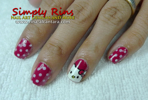 cute hello kitty nail designs. Nail Art Hello Kitty 01