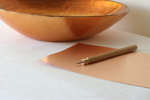 All you need is copper and an embossing tool