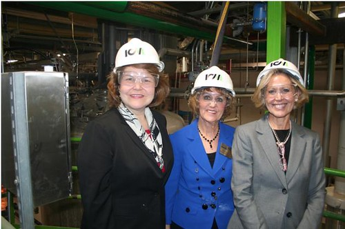 Administrator Judy Canales is joined by Missouri State Director, Janie Dunning and Kansas State Director, Patty Clark as they tour the ICM-Lifeline Foods Cellulosic Ethanol Pilot Plant in St. Joe, Missouri.