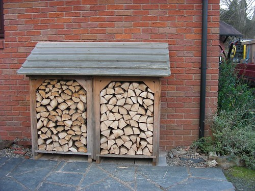 The log storage facility can be positioned almost anywhere that is convenient to the customer often by the back door. When one box is empty and the second ... & Seasoning and storing wood | firewood.co.uk