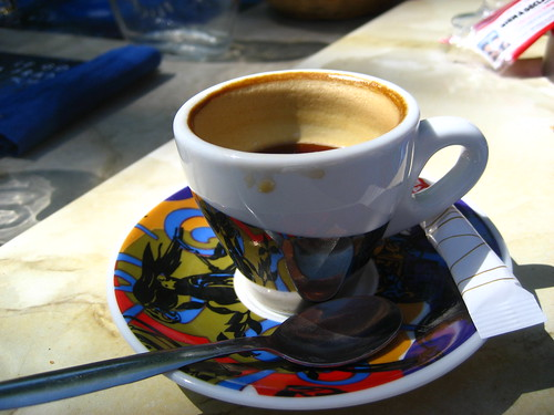 Another espresso at Gazpacho's