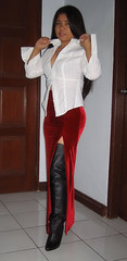 Collared (johnerly03) Tags: fashion hair asian long boots thigh filipina length philipines erly