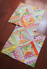 April do. Good Stitches Blocks (Cut To Pieces) Tags: charity pez sewing fabric quilting string block patchwork ninepatch piecing alexanderhenry stringblock orangepez