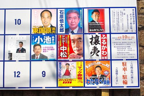 2011年東京都知事選挙ポスター