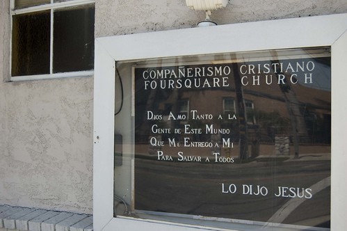 Spanish Church Sign