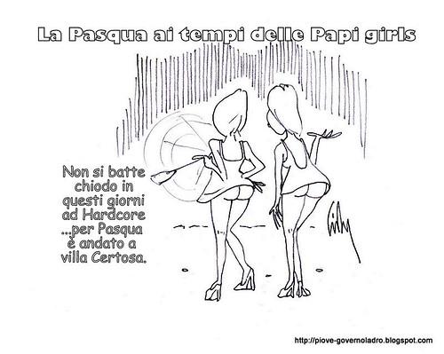 La Pasqua ai tempi delle Papi-girls by Livio Bonino