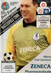 Macclesfield v Kidderminster Harriers - 1993/94 (MaccProgs) Tags: new old blue history rose football moss gm cheshire soccer conference harriers vauxhall programme macclesfield kidderminster silkman 1874 macc mtfc silkmen