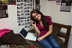 day cxxxv- happyhappyhappy (365daysofsarav) Tags: silly college happy random laptop dorm 365 excitement dormlife corcoran anarbor