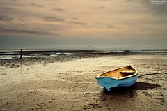 Little Blue Boat (.Brian Kerr Photography.) Tags: sunset shells seascape beach canon landscape scotland sand rocks coastal shore coastline solway dumfries galloway winkle southerness carsethorn littleblueboat eos5dmkii briankerrphotography