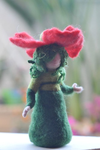 Poppy-girl-Needle felted soft sculpture - Waldorf Inspired-For custom orders