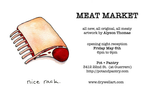 MEAT MARKET art show flier