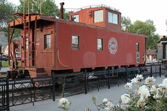 Memories Of The Southern Pacific. Caboose On Display At the Fillmore Train Station. (Trail Trekker) Tags: trains caboose southernpacificlines southernpacificrailroad fillmoretrainstation