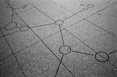 Constellation (Chris28mm) Tags: detail film architecture zeiss stars losangeles downtown floor 28mm cement contax andromeda carl marble heavens ilford panf cathedralofourladyoftheangels contaxiiia chris28mm
