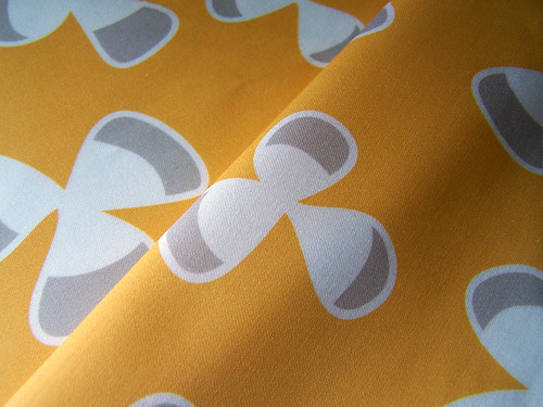 Clover in Mustard Organic Fabric