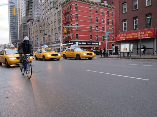 NYC. Cabs, Bikes and Pedestrians. by Making Deals Zine