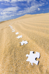 Idea (Alex Bramwell) Tags: inspiration nature landscape corporate idea sand thought desert dunes plan follow puzzle trail thinking imagination jigsaw conceptual piece