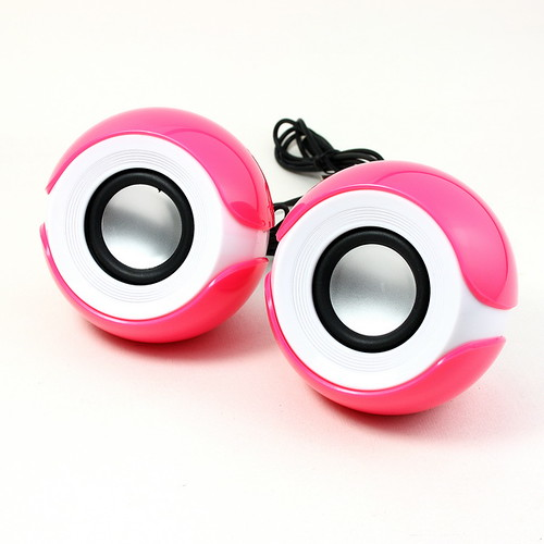 New USB Digital MINI Speaker System Super Bass Rose