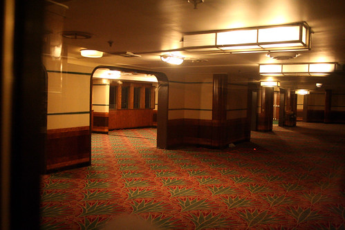 Queen Mary - Former Second-Class Promenade Deck and Part of Lounge (Now Brittania Room)