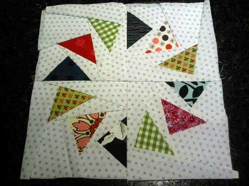 My first Circle of Geese block!