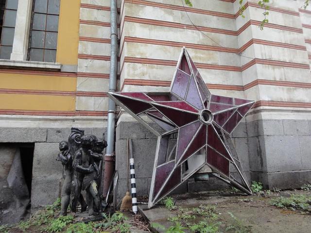 Estrela sovietica do cimo da Casa dos Soviéticos