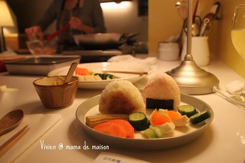 味增漬蔬菜糖心蛋佐日式烤飯糰