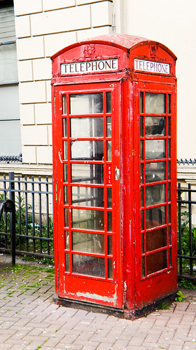 Belfast - Red Telephone Box In Poor Condition