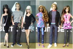 Ken & Barbie Model Muse (Different Body Types, Face Molds & Hair Colors) Dolls (TweeBie) Tags: photography doll ken barbie lara harleydavidson mackie basics blaine mattel fashionistas topmodel maledoll aprodite mbili modelmuse