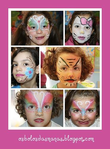 Pinturas faciais festa Carolina  2 by Osbolosdasmanas