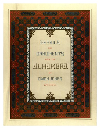 009-Portada volumen II-Plans- elevations- sections and details of the Alhambra Vol 2-1842-Jules Goury y Owen Jones