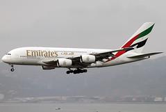 Airbus   A380-861   Emirates   A6-EDK   Hong Kong   HKG   VHHH (Christian Junker   Photography) Tags: china plane canon hongkong eos airport asia aviation uae super landing emirates airline 7d airbus a380 ek heavy hkg 100400mm sar clk planespotting cheklapkok 030 vhhh a380800 a388 25r a380861 ek384 a6edk emirates384