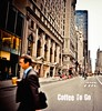 . (Violet Kashi) Tags: street morning people newyork man blur coffee work buildings vanishingpoint skyscrapers rush stores fifthave atchitecture