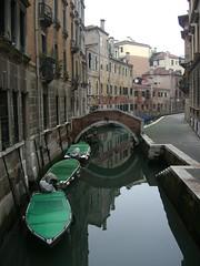 Boats on a Canal in Venice by Danalynn C