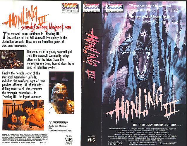Howling 3 (VHS Box Art)